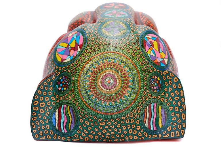 Mascara Jaguar - Jaguar Mask - Mexican Folk Art  Cactus Fine Art - Naturalistic Sculpture by Manuel Cruz Prudencio