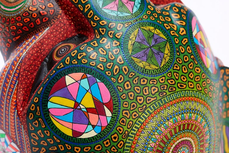 Mascara Jaguar - Jaguar Mask - Mexican Folk Art  Cactus Fine Art 2