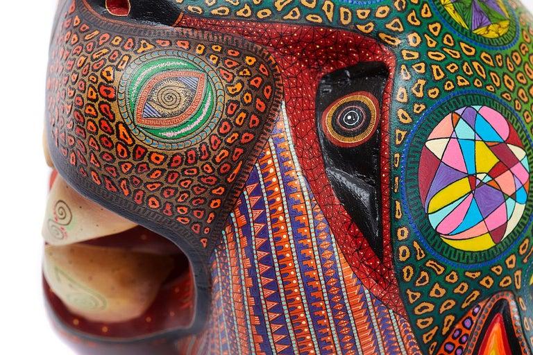 Mascara Jaguar - Jaguar Mask - Mexican Folk Art  Cactus Fine Art 3