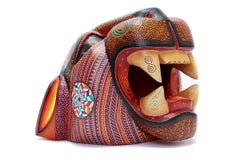 Mascara Jaguar - Jaguar Mask - Mexican Folk Art  Cactus Fine Art