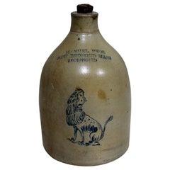 Manuel Enos New Bedford Massachusetts Stoneware Whisky Jug