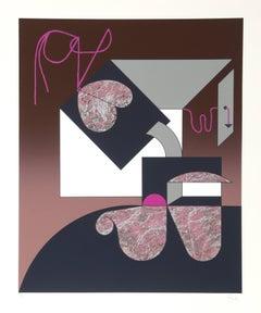 Abstract Silkscreen by Manuel Felguerez Barra