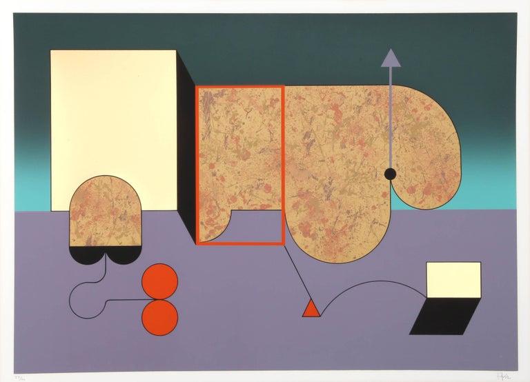 Manuel Felguérez Abstract Print - Colorful Abstract Silkscreen by Manuel Felguerez Barra