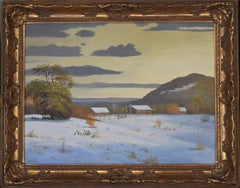 """Sunset Texas Hill Country In White""  Rare snow scene by Garza"