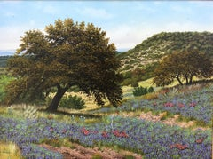Untitled, Hill Country Landscape with Bluebonnets