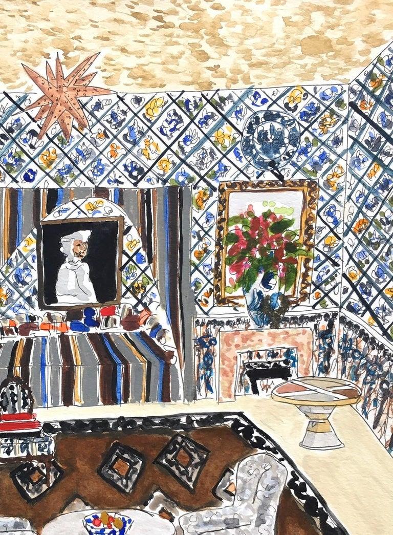 A Turkish room - Beige Interior Art by Manuel Santelices