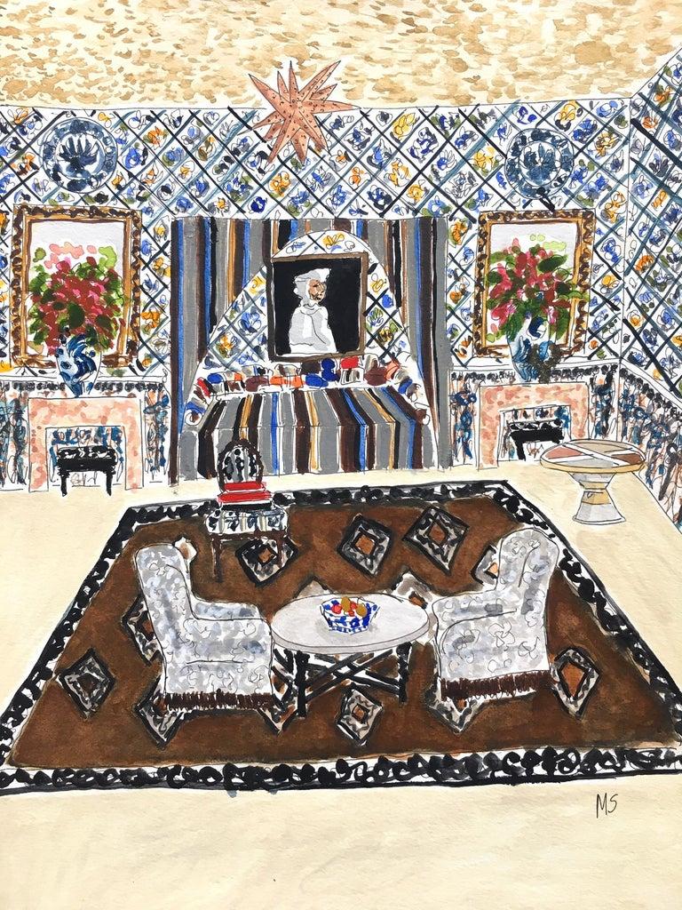 Manuel Santelices Interior Art - A Turkish room