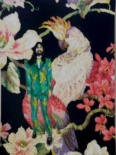 Alessandro Michele, one of a kind acrylic painting, 2018