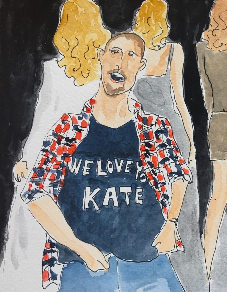 Alexander McQueen/ We love Kate - Painting by Manuel Santelices