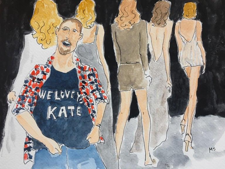 Manuel Santelices Portrait Painting - Alexander McQueen/ We love Kate