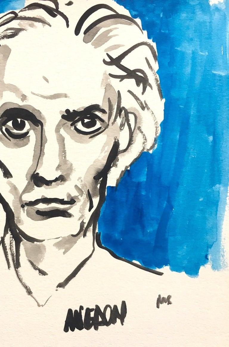 Avedon - White Portrait Painting by Manuel Santelices