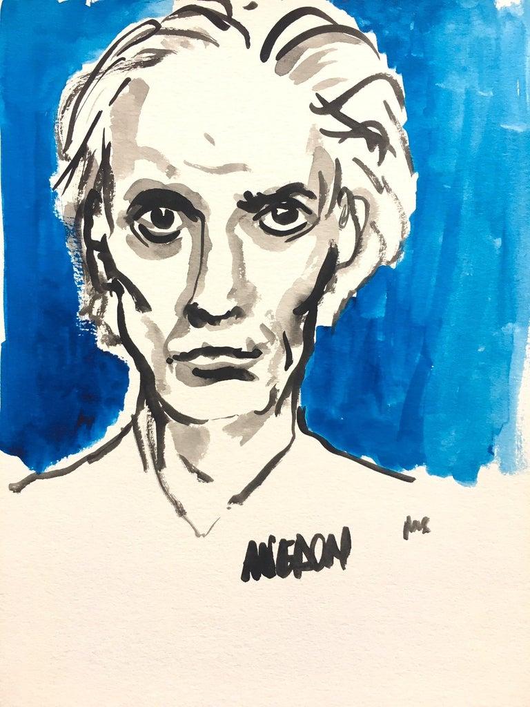 Manuel Santelices Portrait Painting - Avedon