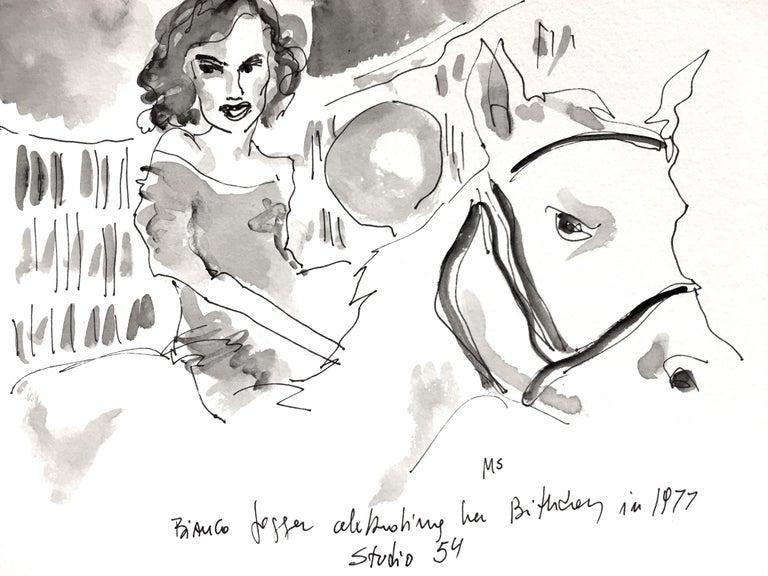Manuel Santelices Portrait Painting - Bianca on a horse