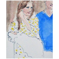 Birth of Prince George, Watercolor on Archival Paper, 2016