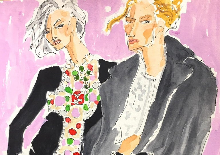 Chanel fall 2020 - Painting by Manuel Santelices