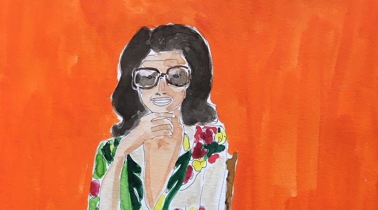 Jackie in Dries - Painting by Manuel Santelices
