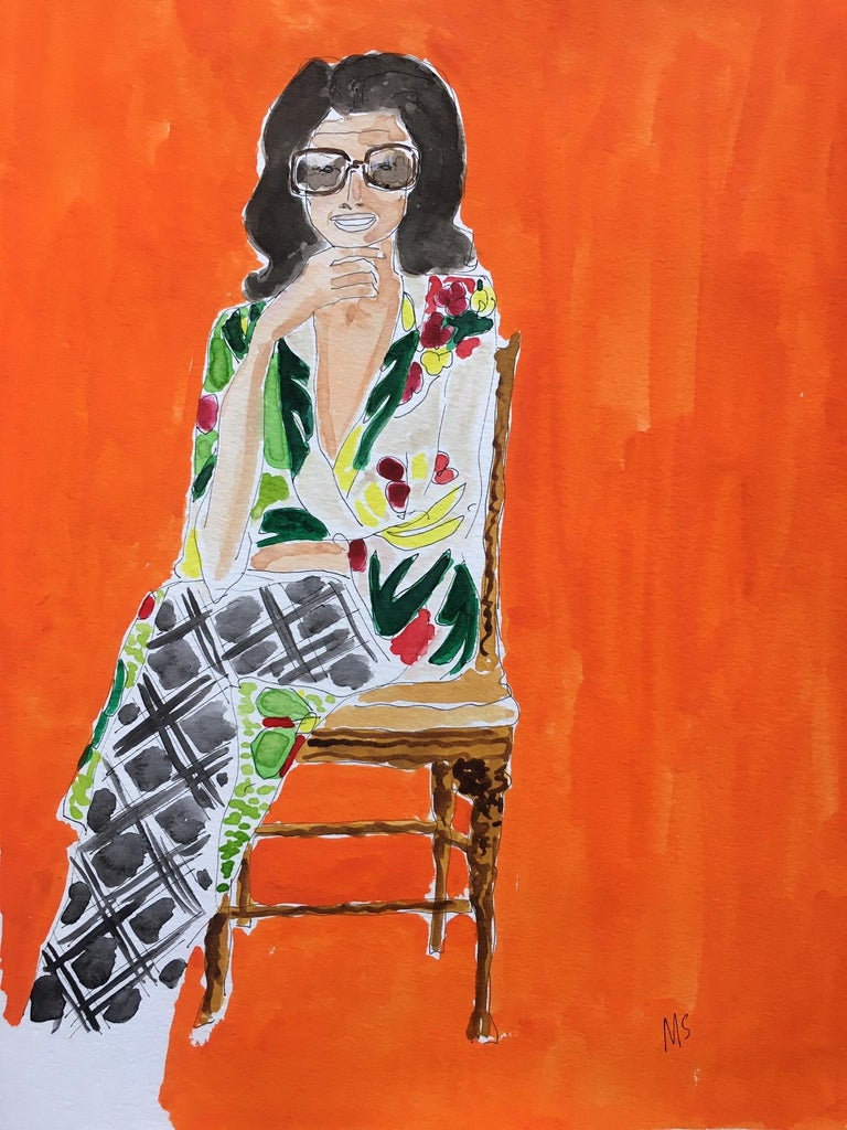 Manuel Santelices Portrait Painting - Jackie in Dries