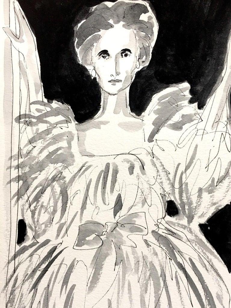 Manuel Santelices Portrait Painting - Jane Wrightsman