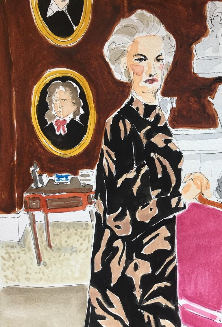 Lady Pamela Hicks and Lady Patricia Mountbatten - Contemporary Painting by Manuel Santelices