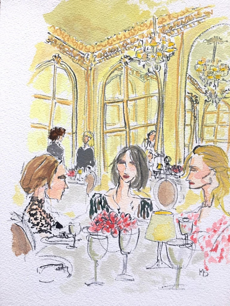 Manuel Santelices Interior Art - Lunch at the Ritz