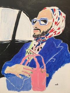 Marc Jacobs blue,  Portrait