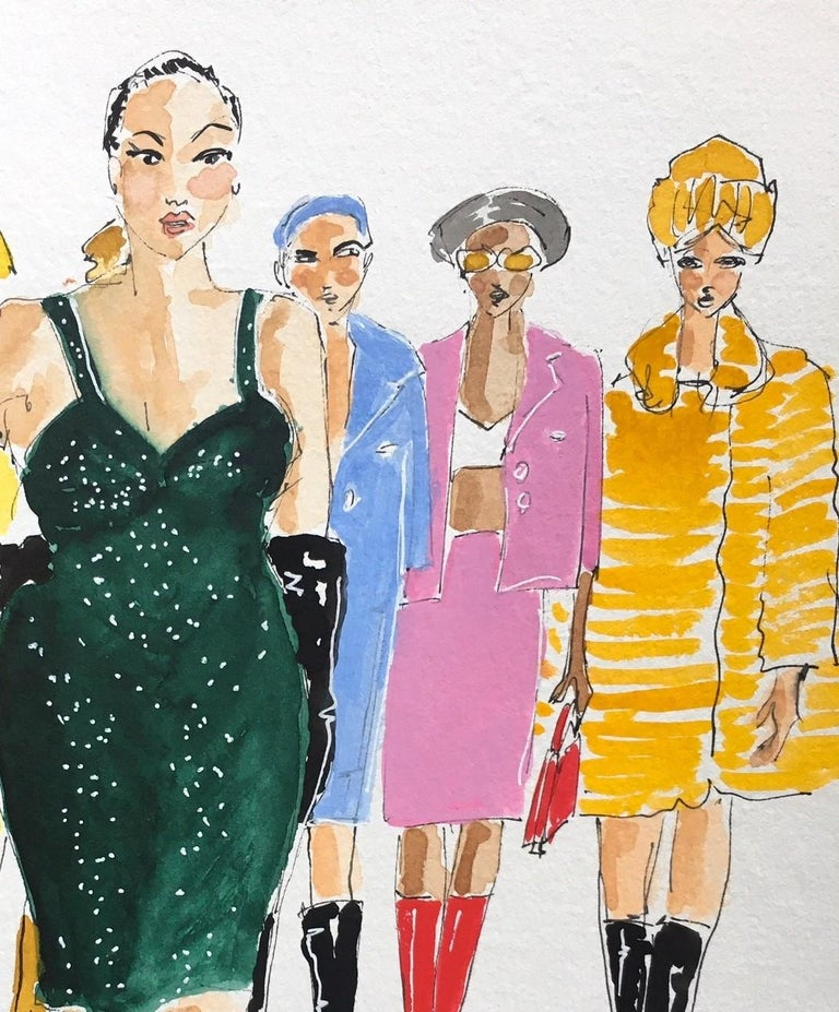 Marc Jacobs fall 2020 - Art by Manuel Santelices