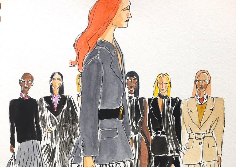 Prada fall 2020 - Painting by Manuel Santelices