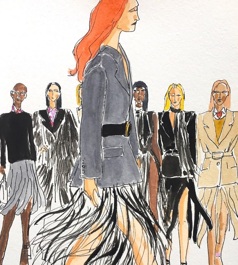 Prada fall 2020 - Contemporary Painting by Manuel Santelices