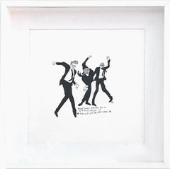 Robert Longo Dances -  One of a kind watercolor, Framed