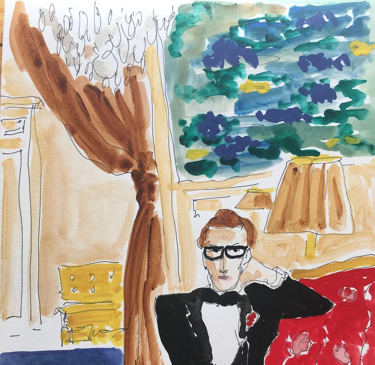 Saint Laurent at home (After Horst) (2020) - Art by Manuel Santelices