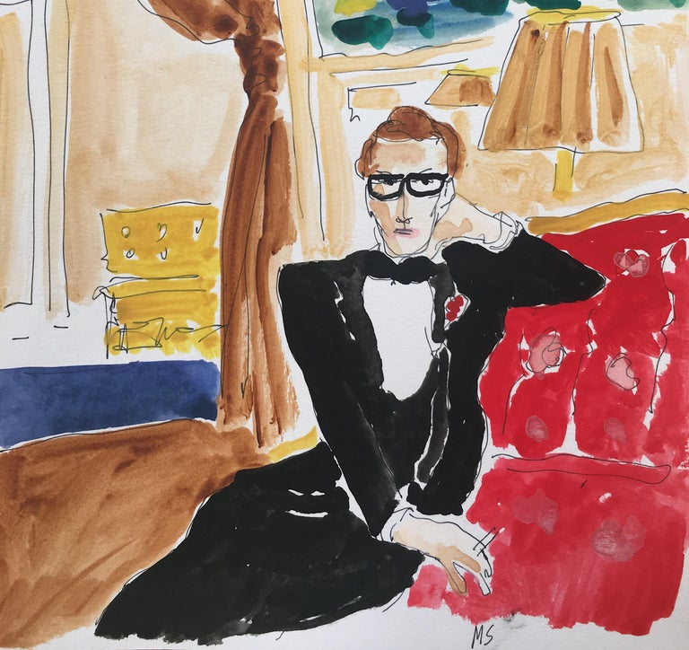 Saint Laurent at home (After Horst) (2020) - Contemporary Art by Manuel Santelices