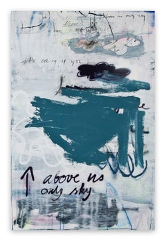 Above us only sky (Abstract painting)