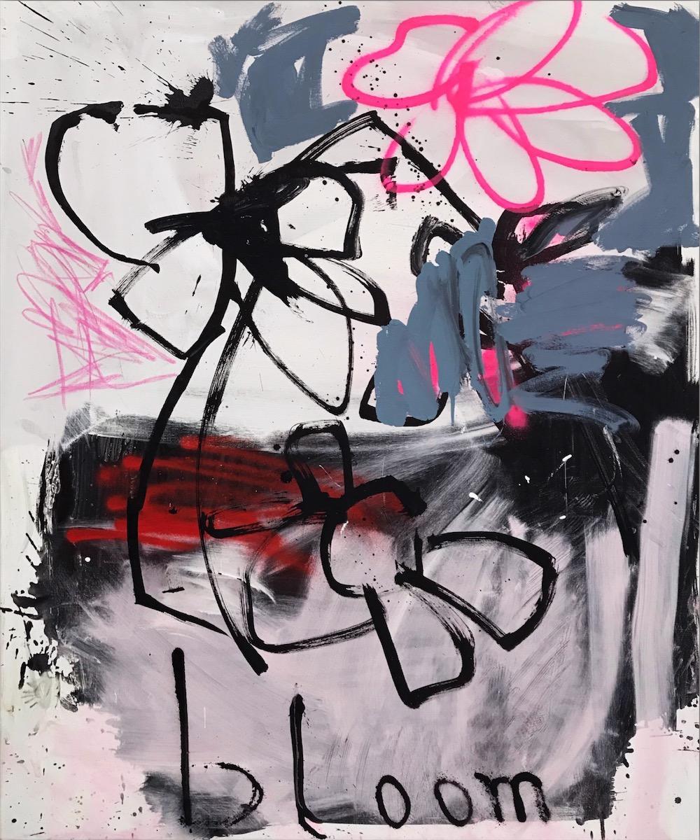 Bloom - expressive painting, abstract art, Contemporary Art, 21thC., modern art