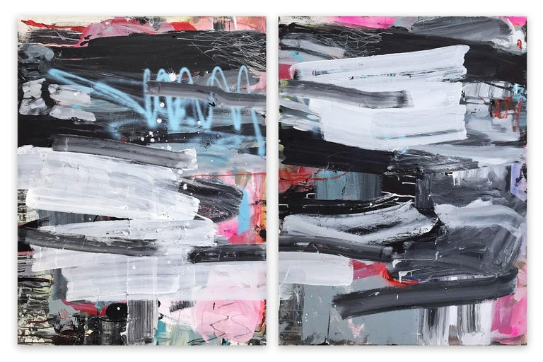 Manuela Karin Knaut Abstract Painting - Covers 1&2 (Abstract painting)