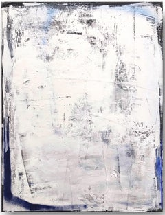 Flag for no country - Expressive painting, abstract art, Contemporary Art, blue