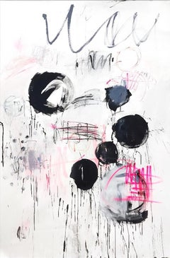 More than you could wish-expressive paint, abstract, Contemporary, black white
