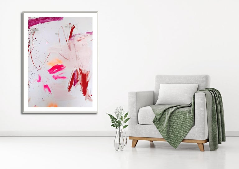 Rosy cheeks and bubbly 2 (Abstract work on paper) - Painting by Manuela Karin Knaut
