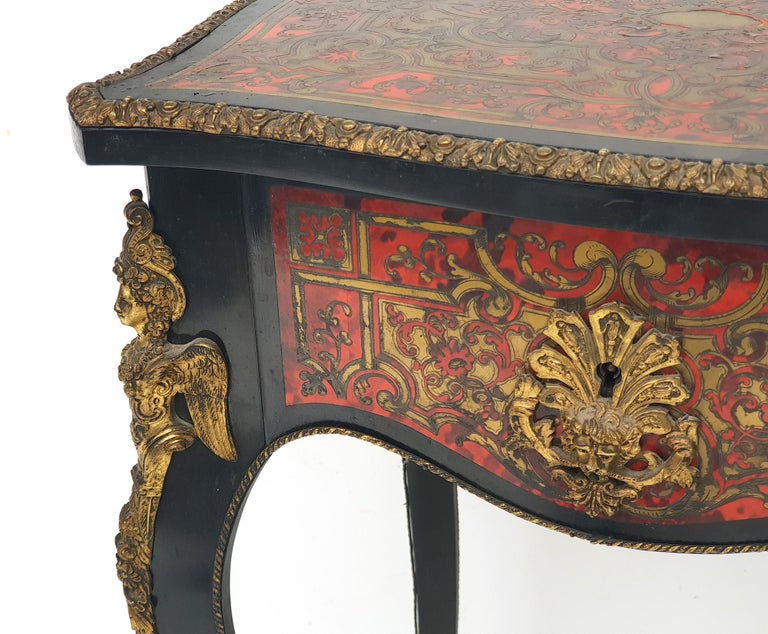 Ebony Manufactory of A. Lemoine, Boulle or Napoleon III, Sewing Table, 1850s For Sale