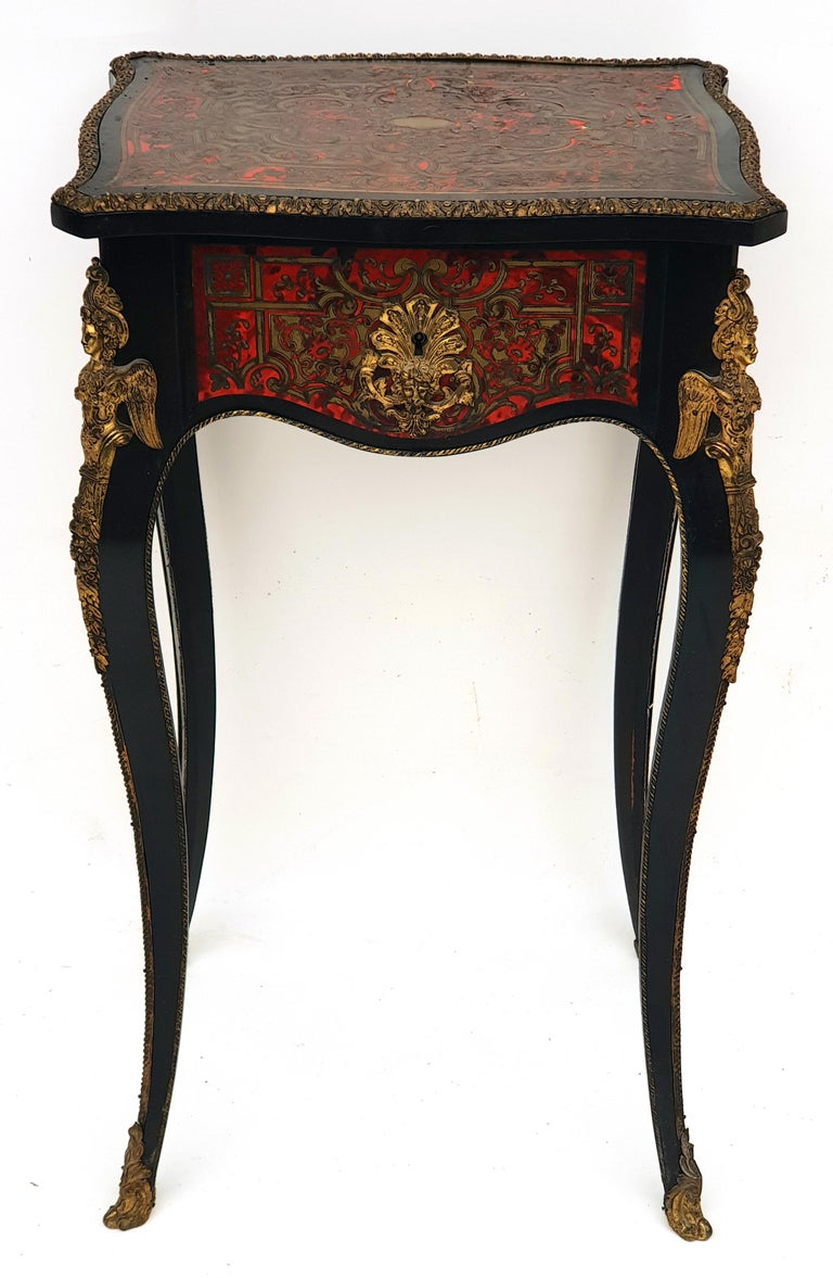 Manufactory of A. Lemoine, Boulle or Napoleon III, Sewing Table, 1850s For Sale 1