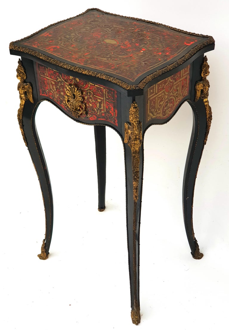 Manufactory of A. Lemoine, Boulle or Napoleon III, Sewing Table, 1850s For Sale 2