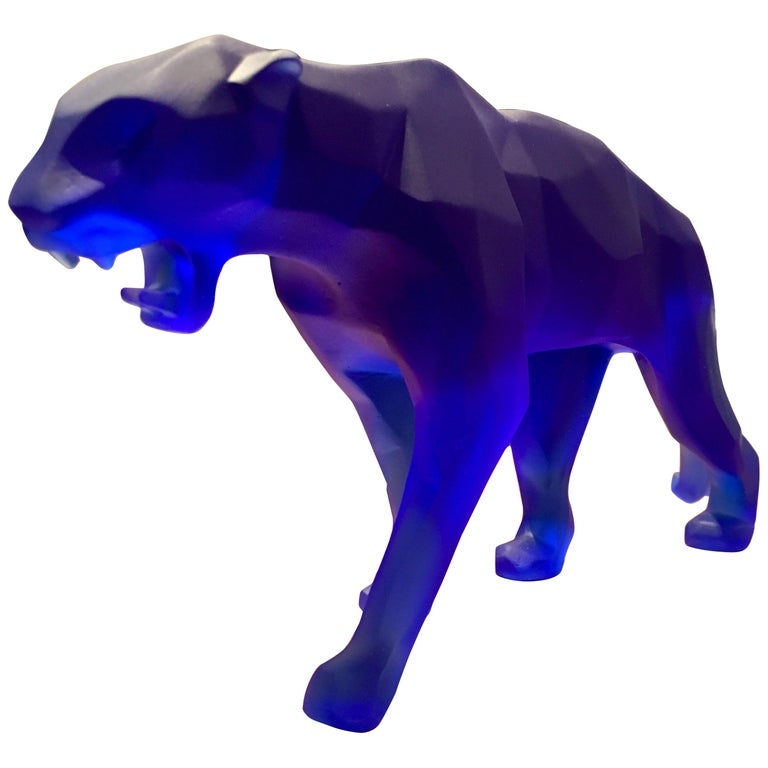 """Manufacture Daum, """"Wild Panther"""" in Crystal Paste by Richard Orlinski, 2018 For Sale"""