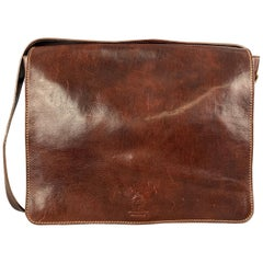 MANUFACTUS Cognac Leather Messenger Bag