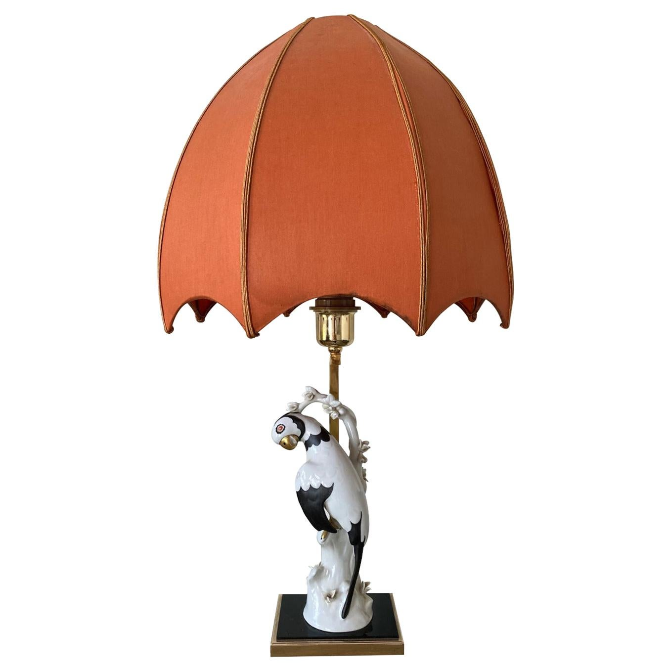 Manufattura Porcellane Artistiche, Hand Painted Italian Porcelain Table Lamp