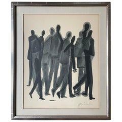 """""""Many Men"""" Stone Lithograph by Ben Shahn"""