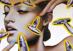 BULLETS 2 - Contemporary Art, Pop Art, Figurative, modern, female, Portrait