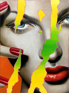 Glossy 5 - Contemporary, Pop Art, figurative, modern, female Portrait, oilpaint