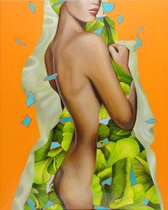 Leaves - Contemporary, Pop Art, 21th C, Figurative Art, modern, female Portrait