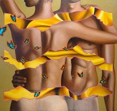 LOVE 2 - Contemporary Art, Pop Art, Body naked, modern, female, Portrait, Nudes,