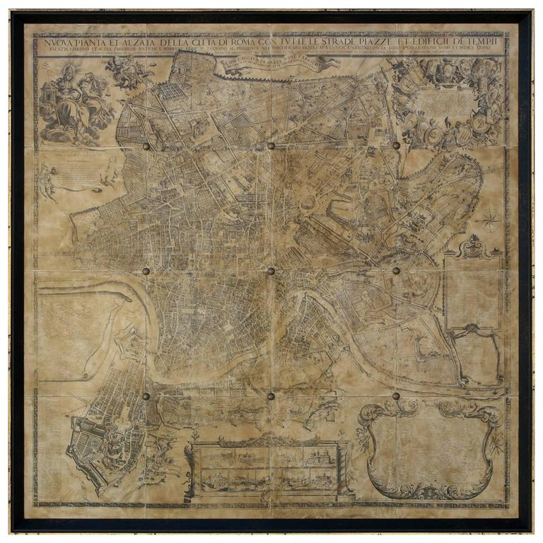 Map of Rome For Sale