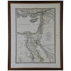 "Map of the Holy Land ""Carte de la Syrie et de l'Egypte"" by Pierre M. Lapie"